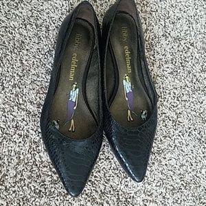 libby. edelman Shoes - Crocodile Pointed Toe Flats